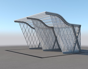 3D Carport Design With Steel Construction 4