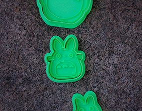 Totoro trio set cookie cutters 3D print model