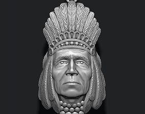 3D print model Native American Indian head pendant
