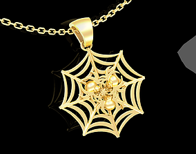 3D printable model Spider Pendant jewelry Gold