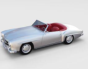 3D model Mercedes 190SL with Interior rev