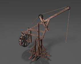 3D asset Medieval Crane