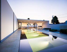 3D model Modern Pool Villa