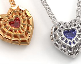 3D print model Beautiful bionic hearts pendant