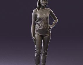 Woman in black tank panther 0724 3D Print 1