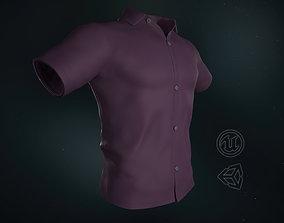 3D asset Pink Summer Shirt