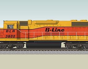 3D model Train Engine - Railroad Locomotive - EMD GP38