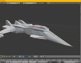 Space ship model game asset just for 2 dollers realtime