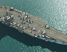 US Navy USS Enterprise CVN-65 nuclear powered 3D asset 1