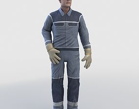 Realistic Worker Character 3D