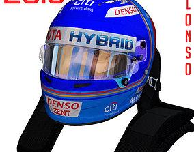 Alonso WEC helmet 2018 3D asset