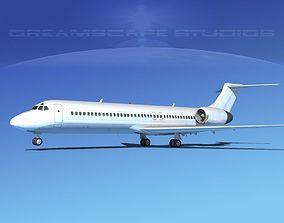 Boeing 717-200 Unmarked 2 3D model