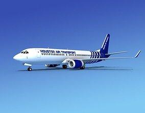 3D model Boeing 737-800 Houston Tranpsort