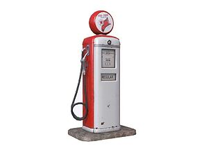 Retro Gas Pump 3D model