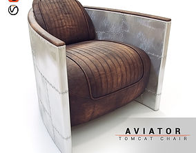 Aviator chair 3D model furniture