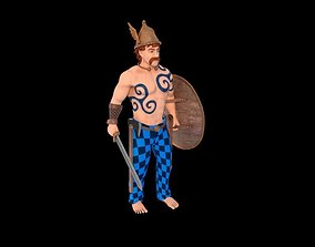 Celtic Warrior 3D model animated