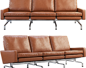 Fritz Hansen PK31 3-seater sofa 3D model