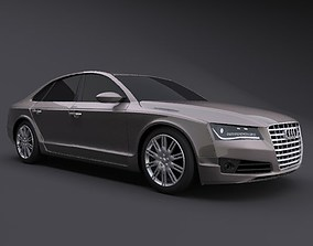 Audi A8 2011 restyled luxury car 3D