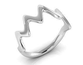 3D print model Wave fashion ring