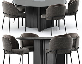 3D model FIL NOIR chair and LOU Dining Table by