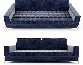 Modern Italian Blue Nubuck Sofa 3D