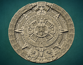 antique Aztec calendar 3D print model