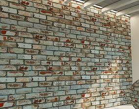 3D model Brick wall Old brick 64