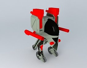 Gun Ru steel skull 3D model