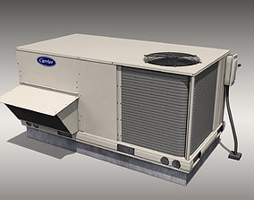 3D asset low-poly Carrier Rooftop Air Conditioner