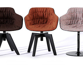 3D model Flow Slim Armchair 2