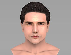 Handsome man bust ready for full color 3D printing TYPE 1