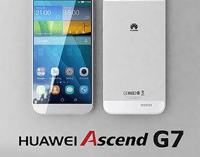 3D model Huawei Ascend G7 White
