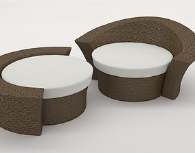 Outdoor sun couch 3D