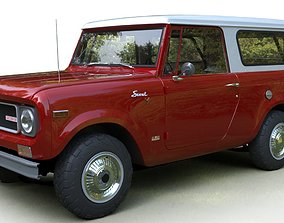 International Scout 800A 1970 3d model animated