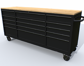 3D model Workbech Storage Tools Trolley 2