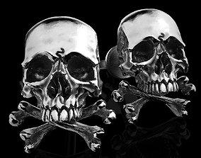 3D printable model cufflinkskull skull earrings studs