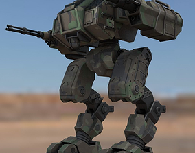 3D asset Battle mech Window Makerd
