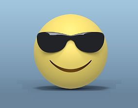 3D model Smiley with Sunglasses