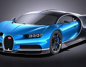 3D Bugatti Chiron 2017 without interior