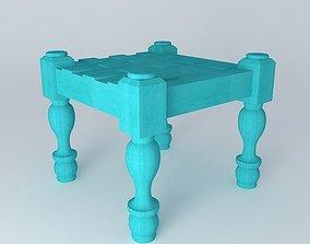 FOOTREST LAMBA BLUE houses the world 3D