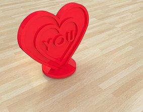 3D printable model heart gift love