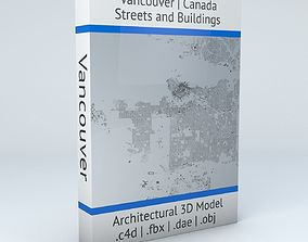 3D model Vancouver Streets and Buildings