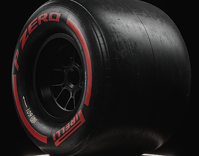 F1 Pirelli Slick SOFT Tire Real World Details 3D model