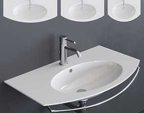 3D asset Ceramica Catalano Velis Wall-mounted Washbasin