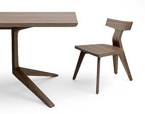 3D De la Espada Fin dining chair and 393F Table