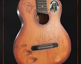 3D asset Old guitar