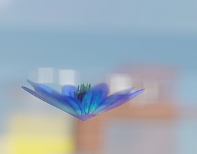 Blue Flower Blossom Version 6 - Object 36 3D asset