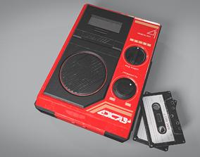 Old Soviet cassette deck Jazz-4 3D model