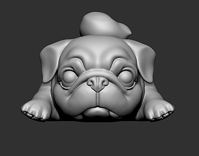 3D print model Lazy Pug