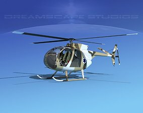Hughes OH-6 Cayuse V05 3D model